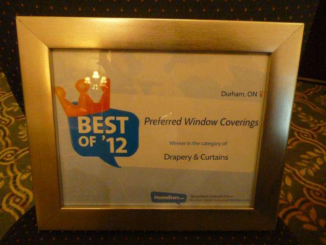 Best of 2012 award by HomeStars.com
